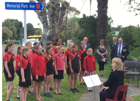 Members of Haumoana Schools Choir supported the event with songs
