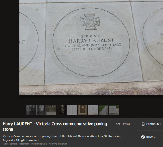 083 Laurent VC Street Hawera Commemorative stone