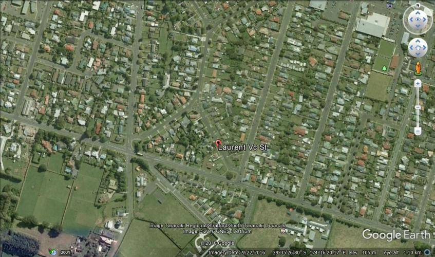 083 Laurent VC Street Hawera Location Map