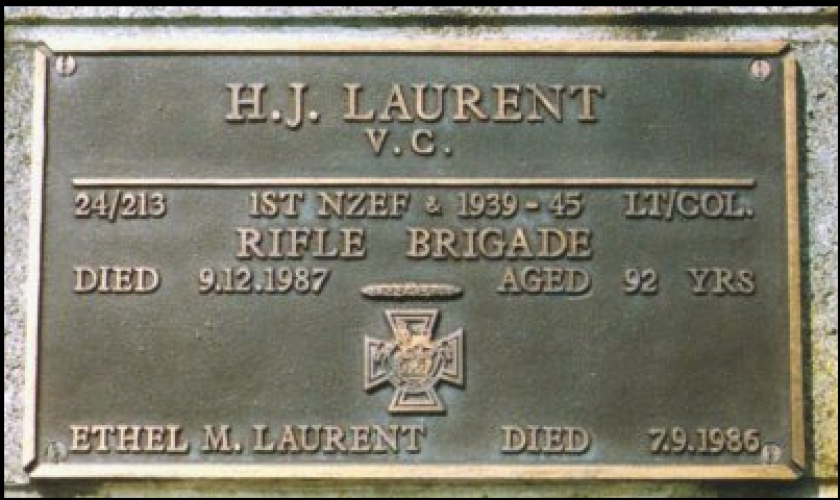 083 Laurent VC Street Hawera Returned Servicemens Section Hawera Cemetery South Taranaki