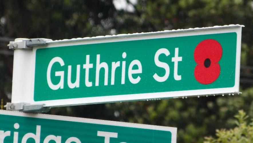 163 Guthrie Street Lower Hutt new street sign 2018
