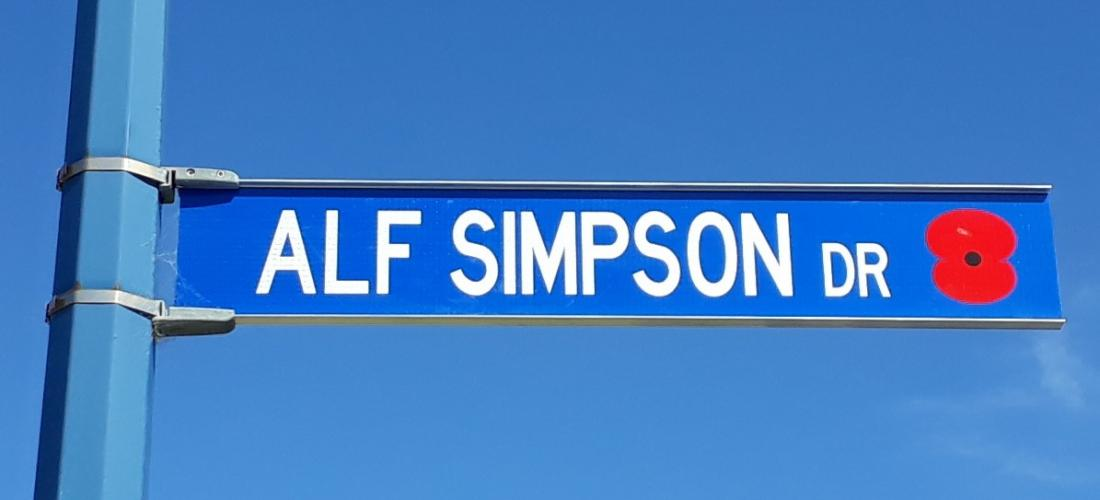 179 Alf Simpson Drive Whitianga new street sign 2019. 1