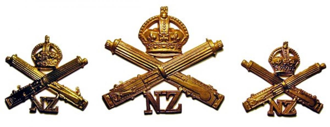 258 Gunners Lane LMC Palmerston North cap and collar badges
