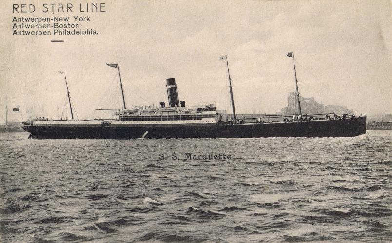 303 NMC CHCH Red Star Line SS Marquette 25 Aug 1910