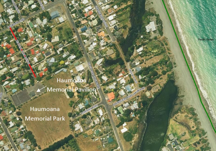 Extract of Memorial Park Avenue from Hastings District Council GIS system 2014 rural aerial imagery